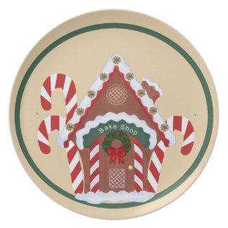 Gingerbread House Dinner Plate