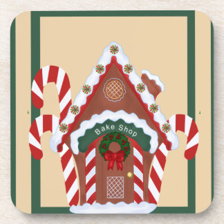 Gingerbread House Drink Coasters