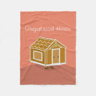 Gingerbread House | Fleece Blanket