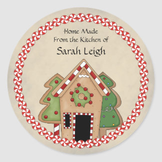 Gingerbread House Food Gift Sticker