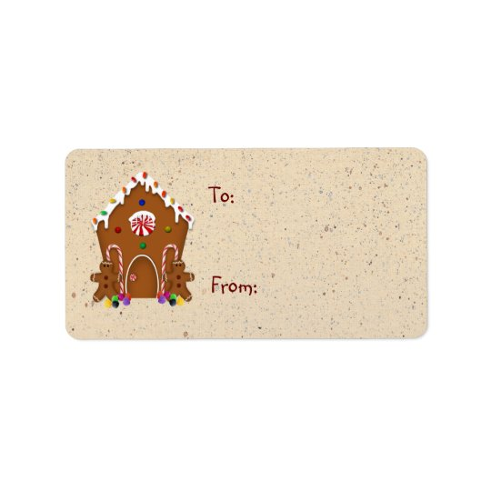 Gingerbread House Gift Label Address Label