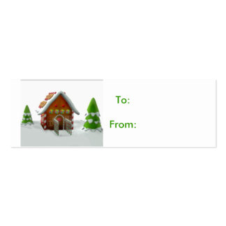 gingerbread house gift tag business card template