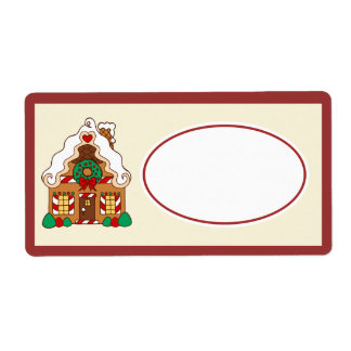Gingerbread  House Gift Tag Label