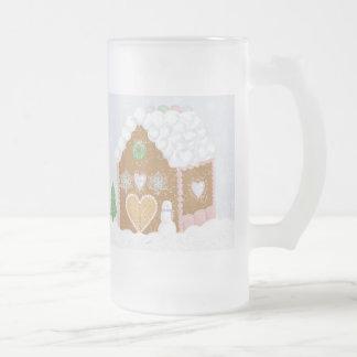 Gingerbread House Glass Mug