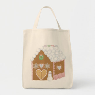 Gingerbread House Grocery Tote Grocery Tote Bag