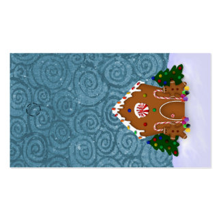 Gingerbread House Hang Tag Pack Of Standard Business Cards