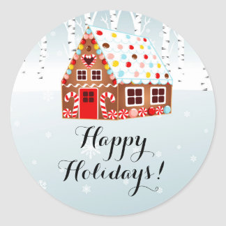 Gingerbread House Holiday sticker