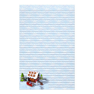 Gingerbread House Holiday Writing Paper Stationery Design