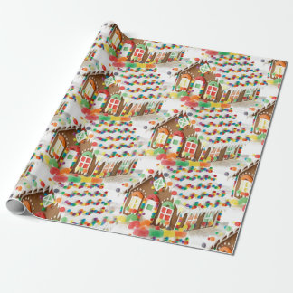 Gingerbread house kids Christmas Wrapping Paper