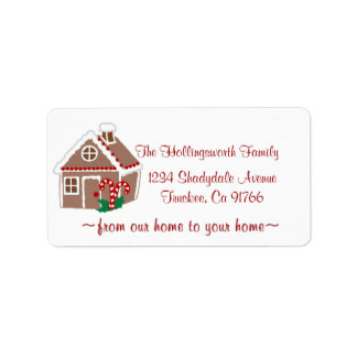 Gingerbread House Label
