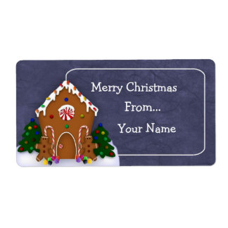 Gingerbread House Label Shipping Label