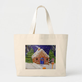Gingerbread House Large Tote Bag