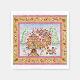 Gingerbread House Napkins Paper Napkins