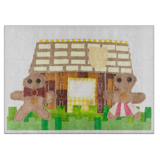 Gingerbread House No Background Chopping Board