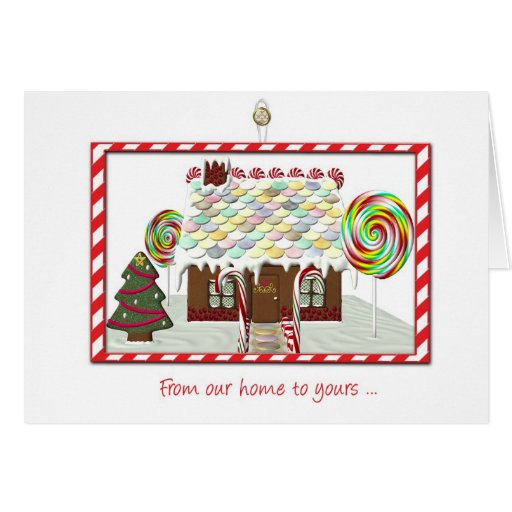 Gingerbread House, Our Home to Yours, Christmas Greeting Card