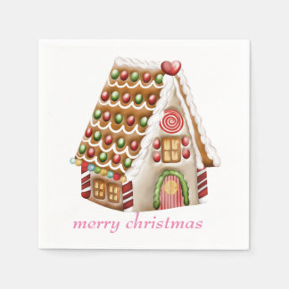 Gingerbread House Paper Napkin