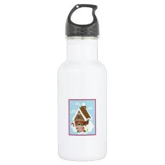 Gingerbread House 532 Ml Water Bottle