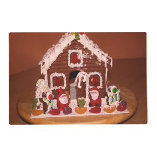 Gingerbread House Placemat Laminated Place Mat