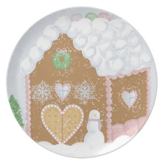 Gingerbread House Party Plate