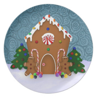 Gingerbread House Plate