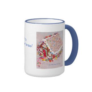 Gingerbread House Ringer Mug