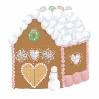 Gingerbread House Sculpture Standing Photo Sculpture