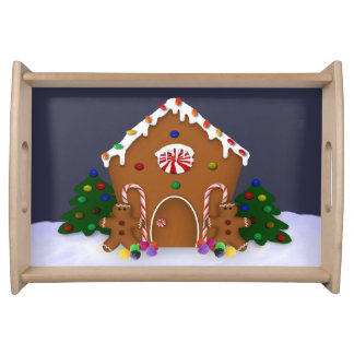 Gingerbread  House Serving Tray