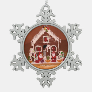 Gingerbread House Snowflake Ornament
