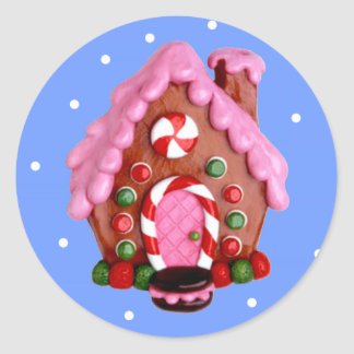 Gingerbread House Round Sticker