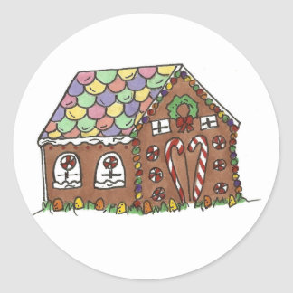 Gingerbread House Stickers
