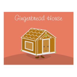 Gingerbread House that is smiling | Postcard