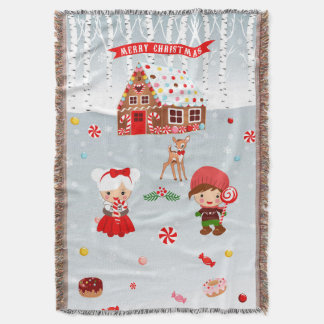 Gingerbread House Throw Blanket