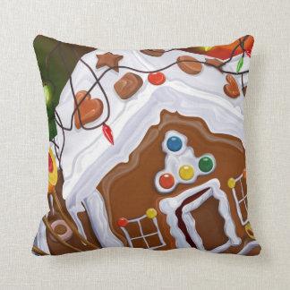 Gingerbread House Throw Cushion