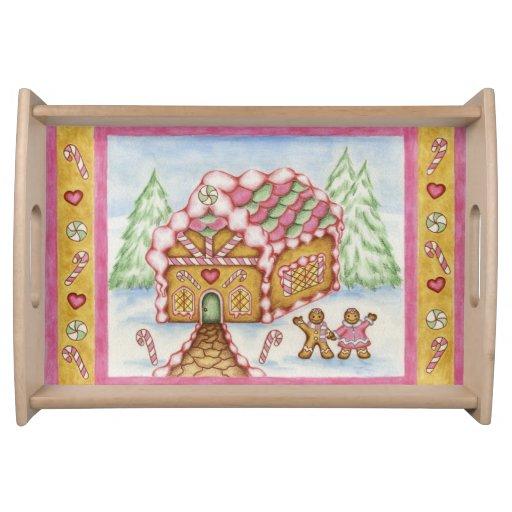 Gingerbread House Tray Food Tray