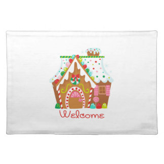 GINGERBREAD HOUSE WELCOME CLOTH PLACE MAT