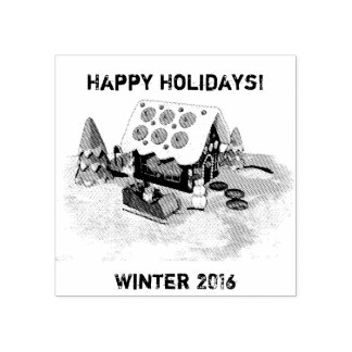 Gingerbread house Winter Holidays Stamper Rubber Stamp