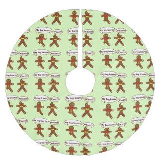 Gingerbread Humor Brushed Polyester Tree Skirt