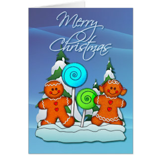 GINGERBREAD KIDS AND LOLLIPOPS by SHARON SHARPE Card