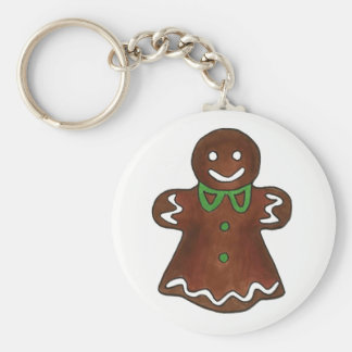 Gingerbread Lady Woman Christmas Holiday Cookie Key Ring