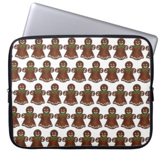 Gingerbread Lady Woman Christmas Holiday Cookie Laptop Sleeve
