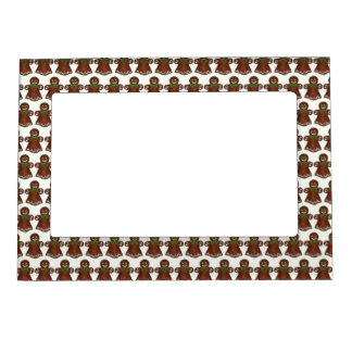 Gingerbread Lady Woman Christmas Holiday Cookie Magnetic Picture Frame