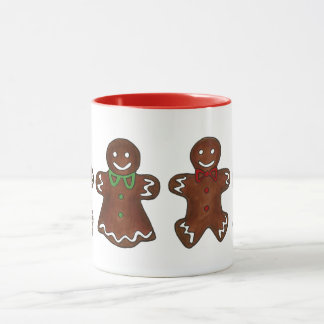 Gingerbread Lady Woman Christmas Holiday Cookie Mug