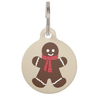 Gingerbread male - beige pet tag