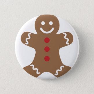 Gingerbread Man 6 Cm Round Badge
