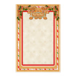 Gingerbread Man and Woman Stationery Design