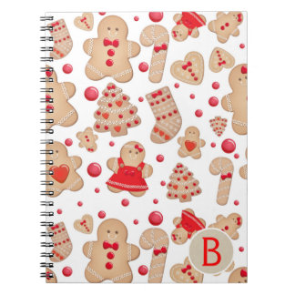 Gingerbread Man Baked Cookies Rustic Whimsical Notebook
