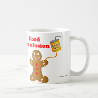Gingerbread Man Blood Bank and Blood Transfusion Coffee Mug