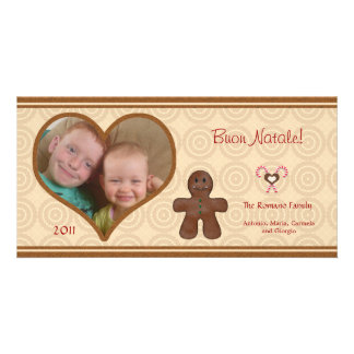 Gingerbread Man - Buon Natale Italian Photo Card