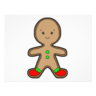 Gingerbread man cartoon 21.5 cm x 28 cm flyer