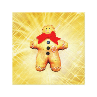 Gingerbread Man Celebration Canvas Print